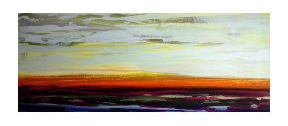 """Acrylic on Wood Panel    60"""" x 24""""    2012"""