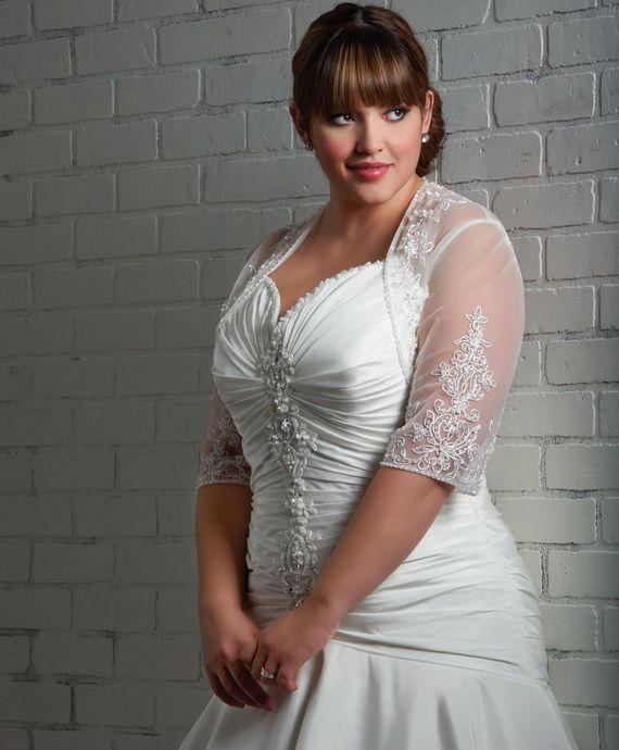 White wedding dress for obese women\