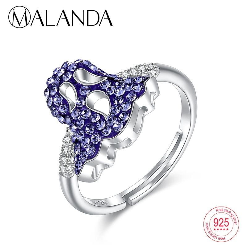 8f53e7269d067 Find More Rings Information about MALANDA Fashion Personality Blue ...
