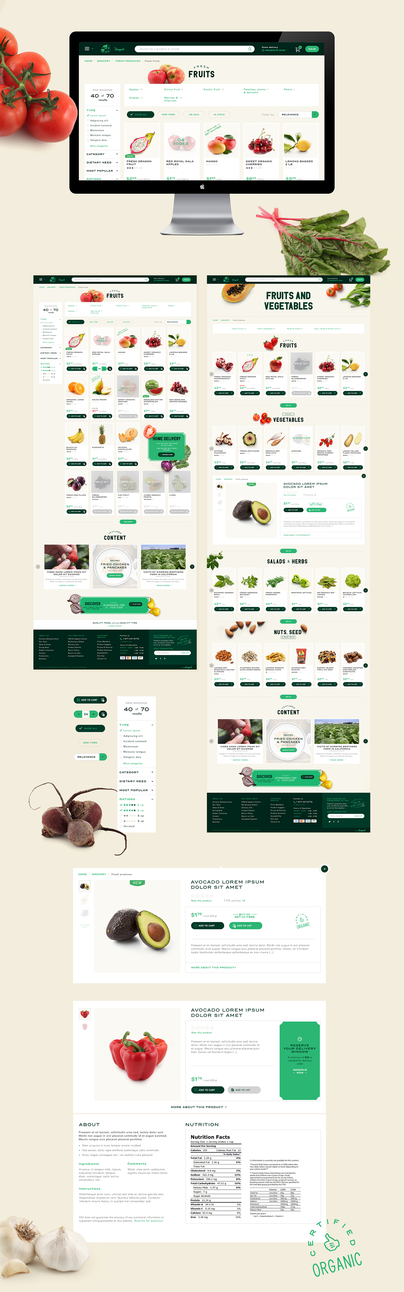 Art direction and web design for Grocery Gateway following