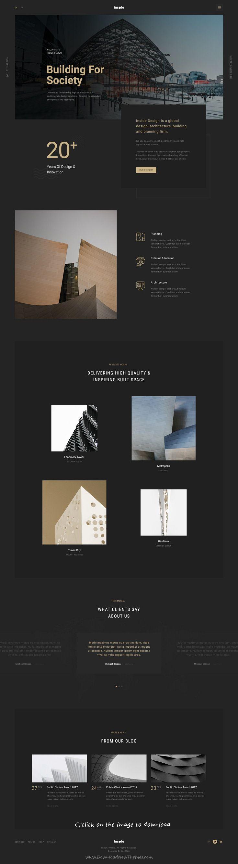 Inside - An Elegant Architecture PSD Template | Pinterest | Psd ...