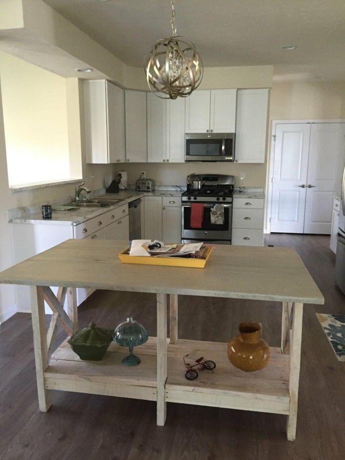 Kücheninsel selber bauen paletten  ideen zum palettenmöbel selber bauen | Möbel aus Paletten ...