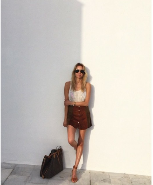9cebc32811727 70 s style by Hege Aurelie in ATP Atelier Carmen sandal in natural leather.   atpatelier  sandals  outfit