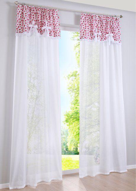 gardine betty 1er pack bpc living wei rosa curtains gardinen scheibengardine rosa. Black Bedroom Furniture Sets. Home Design Ideas