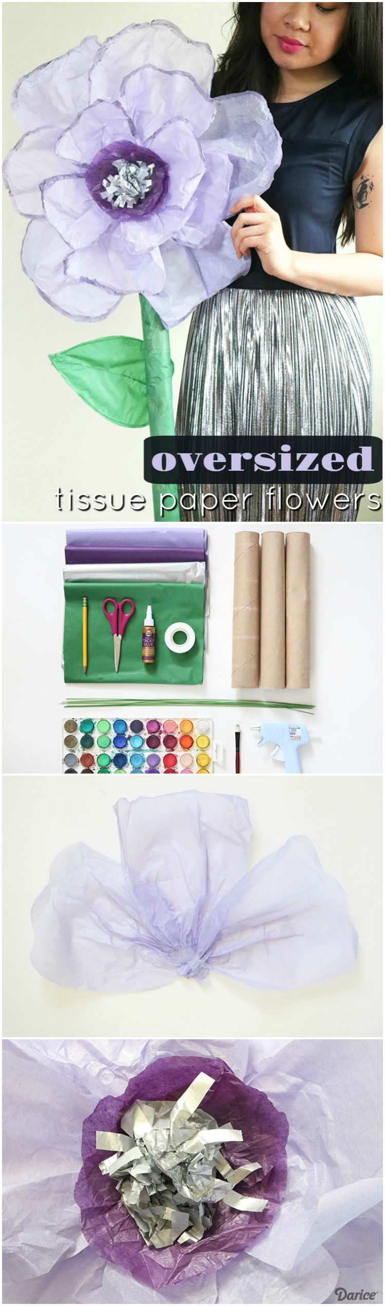 How To Make A Tissue Paper Flower Giant Sized Darice Wedding