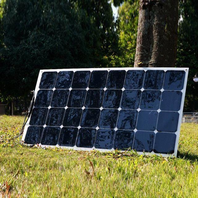 Xinpuguang 100w 18v Or 16v Flexible Efficient Solar Panel Cell Module Caravan Camper Monocrystalline Painel Solar 12v In 2020 Solar Panels Solar Flexible Solar Panels