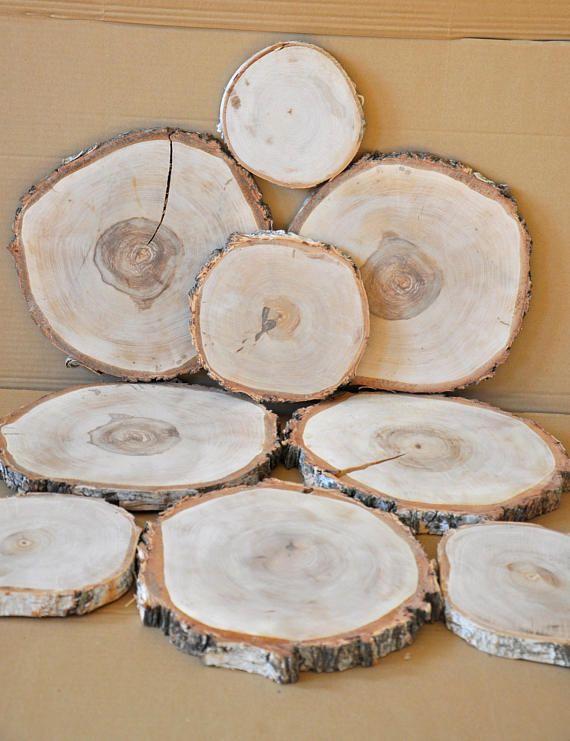 Birch Wood Slices Centerpieces Round Wood Slabs In Bulk Wood Centerpiece Wedding Wood Coaters Wooden P Wood Centerpieces Wood Slice Centerpiece Wooden Platters