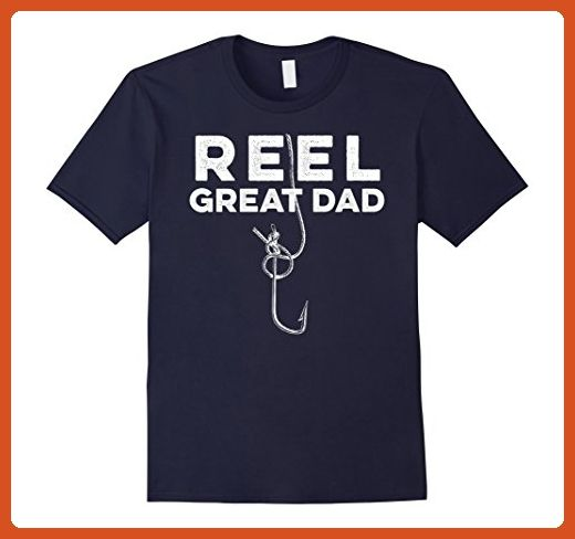 6fe822d9 Mens Reel Great Dad Father's Day Gift From Daughter Son T-Shirt Large Navy  - Holiday and seasonal shirts (*Partner-Link)