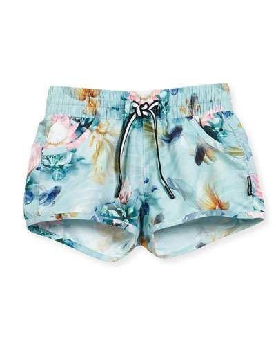 f21ab537db0f1 Molo Nalika Fishpond Swim Shorts, Size 2T-14 swimsuit bathing suit kids  baby toddler