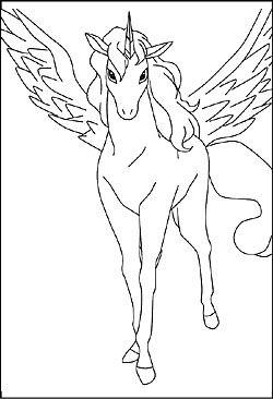 Einhorn Malvorlage Ausmalbilder Fur Kinder Pferdezeichnungen Ausmalbilder Pferde Zum Ausdrucken Ausmalen
