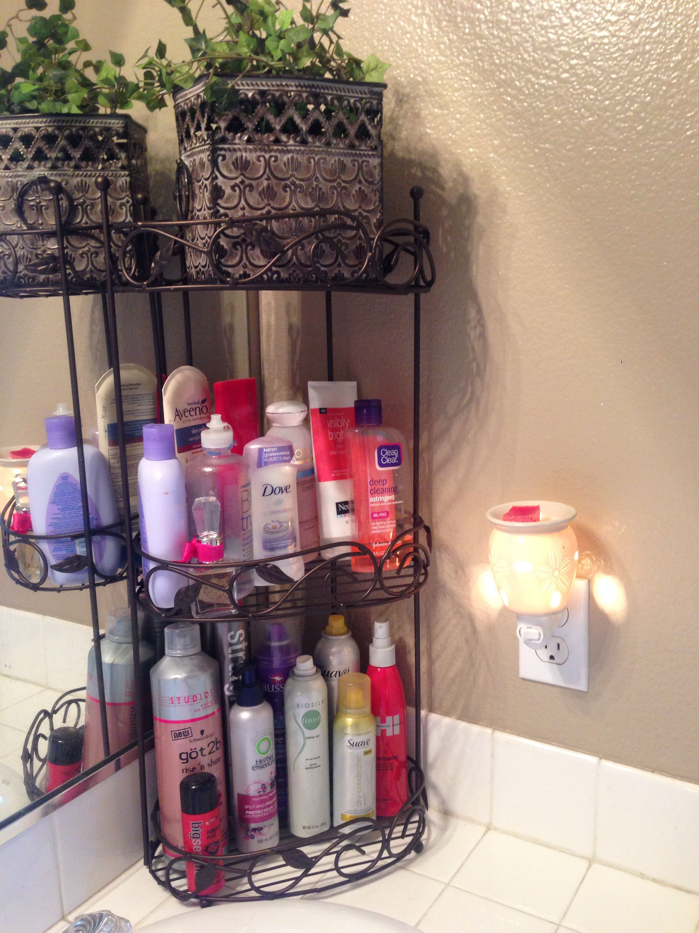 Shower Caddy To Clear Up Bathroom Counter Clutter Simple And Cheap Just 10 From Ross Bathroom Counter Decor Organize Bathroom Countertop Restroom Decor