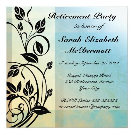 Elegant Vintage Retirement Party Invitation – Retirement Party Invitations Online