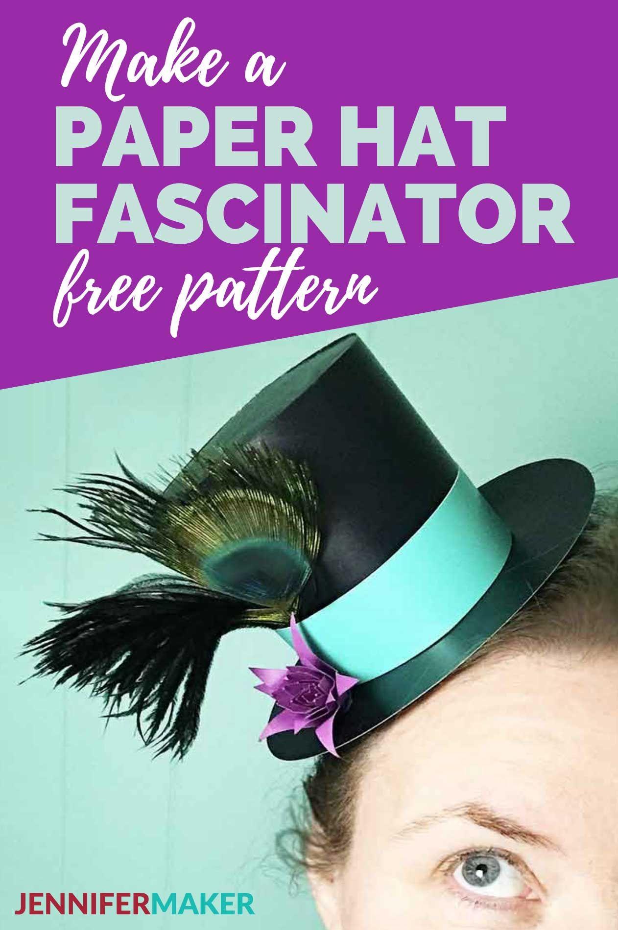 Mini Top Hat Gift Box & Fascinator Paper hat, Hat tutorial