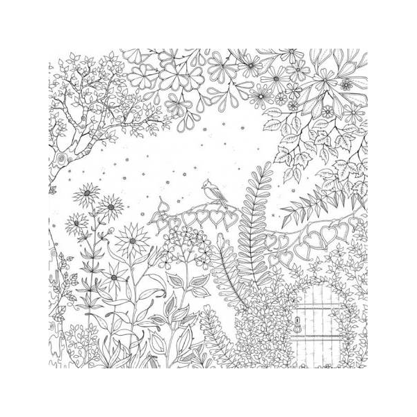 Secret garden an inky treasure hunt colouring book for Treasure hunt coloring pages