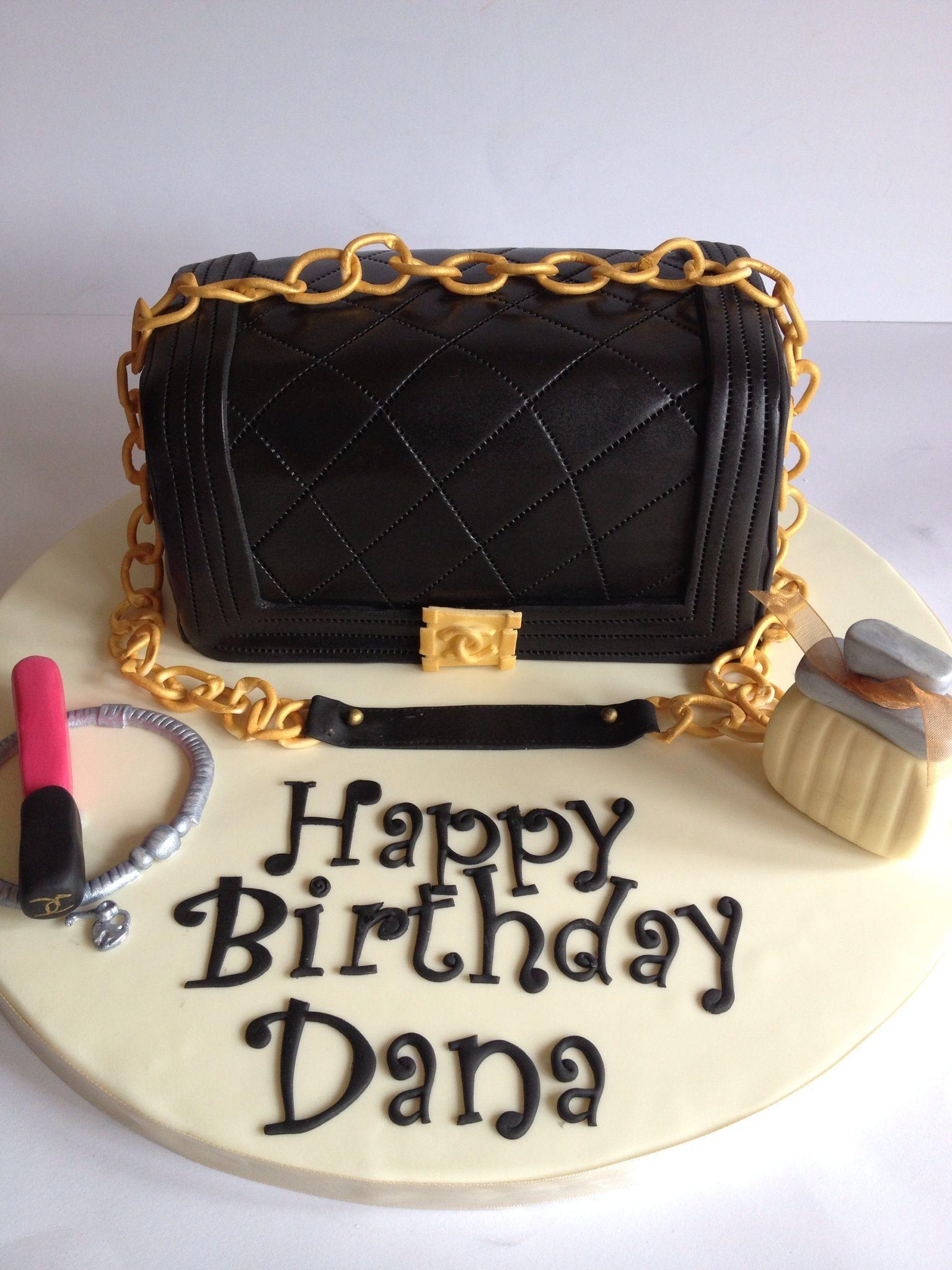 59d87731d319 Chanel Boy handbag cake www.facebook.com/jojocakesheff | Chanel Boy ...