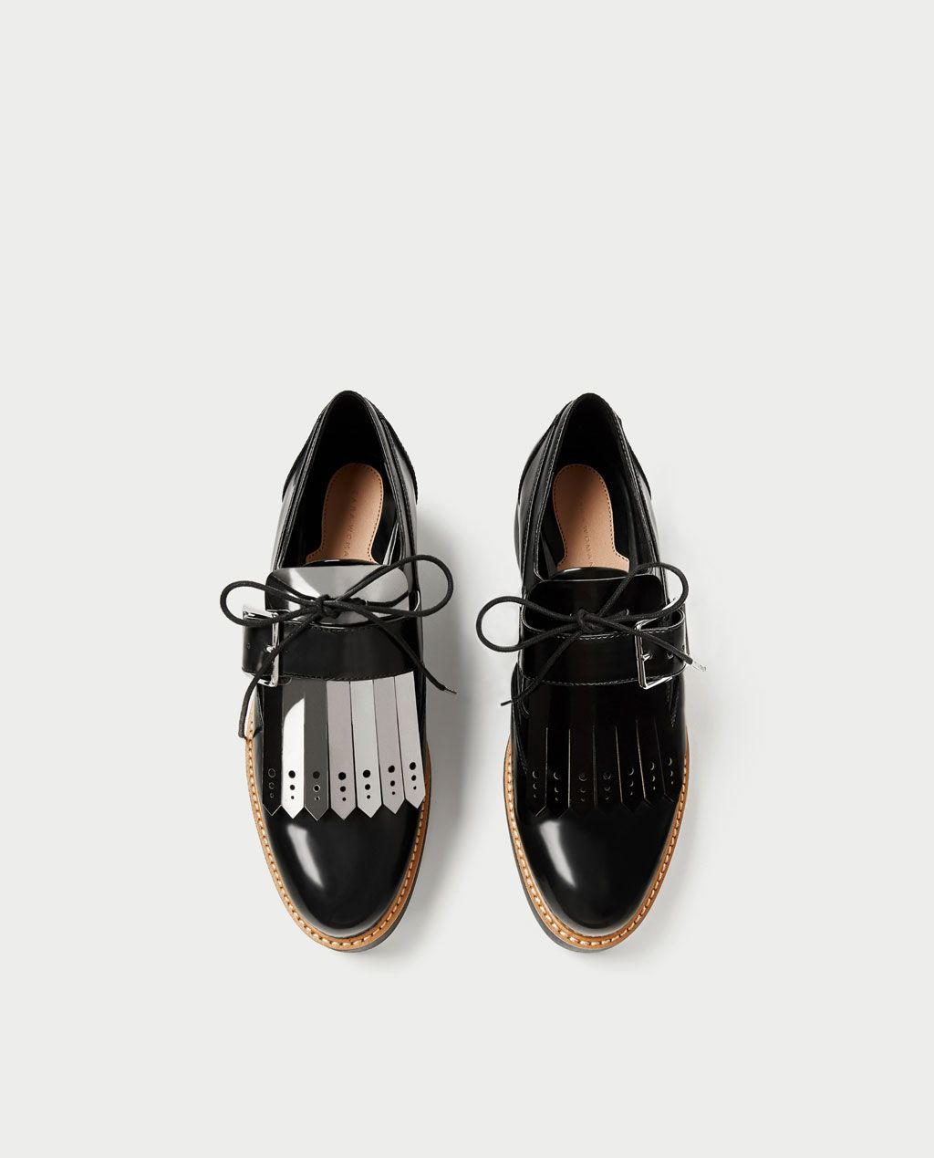4fd6eb0fdd FLATFORM DERBY SHOES WITH REVERSIBLE FRINGE-View all-SHOES-WOMAN ...