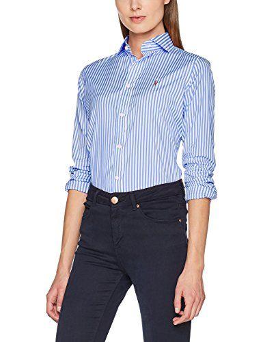 Lauren Brw Blouse Ralph Sleeve Shirt Long Polo Women's Kendal nkwO0P8