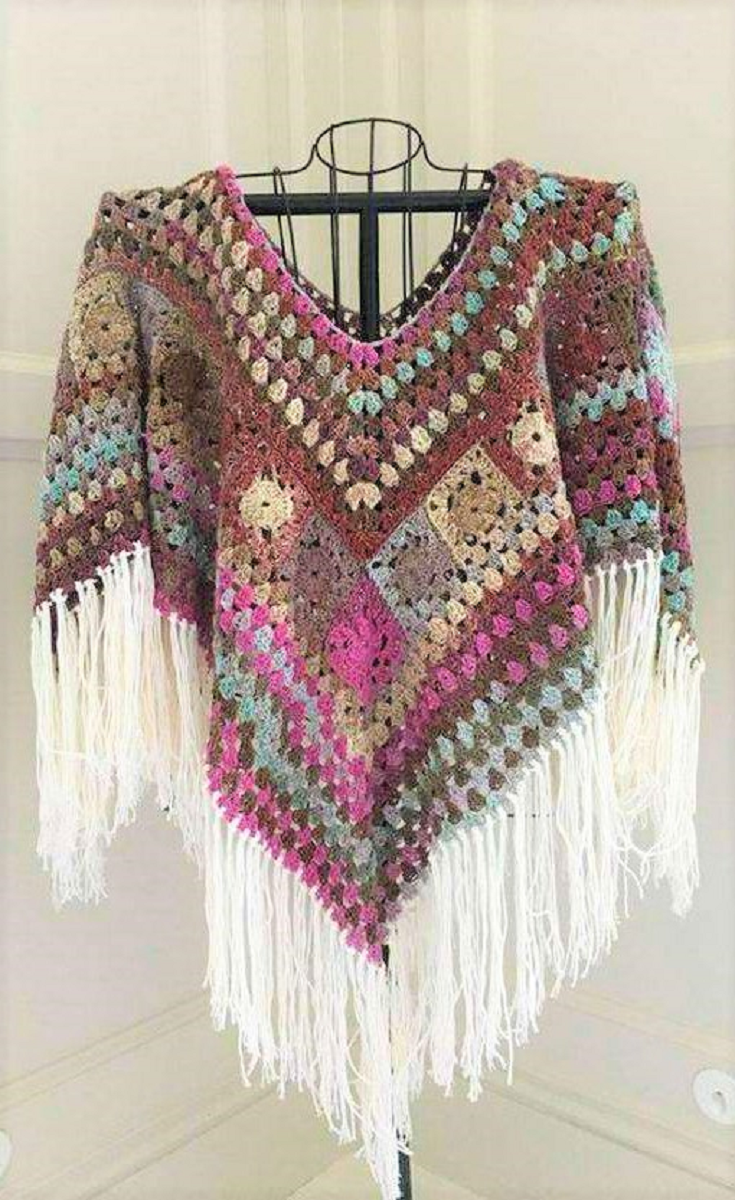 16 Easy Crochet Poncho Patterns for Women | Pinterest | Häkeln