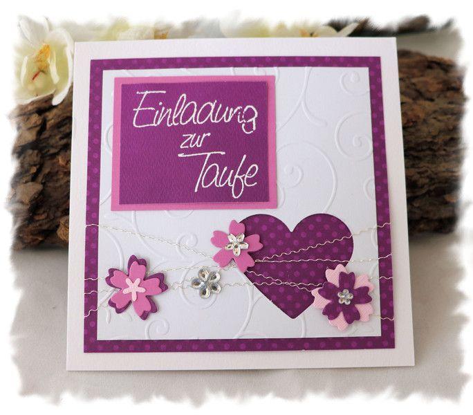 Einladungskarten   Einladung Zur Taufe ♥ ♥ ♥   Ein Designerstück Von  EineKleinigkeit Bei DaWanda