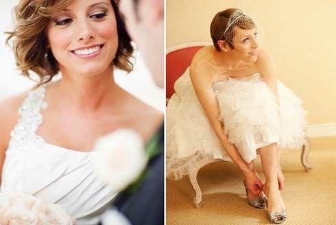 Acconciature da sposa con capelli corti   Acconciature ...