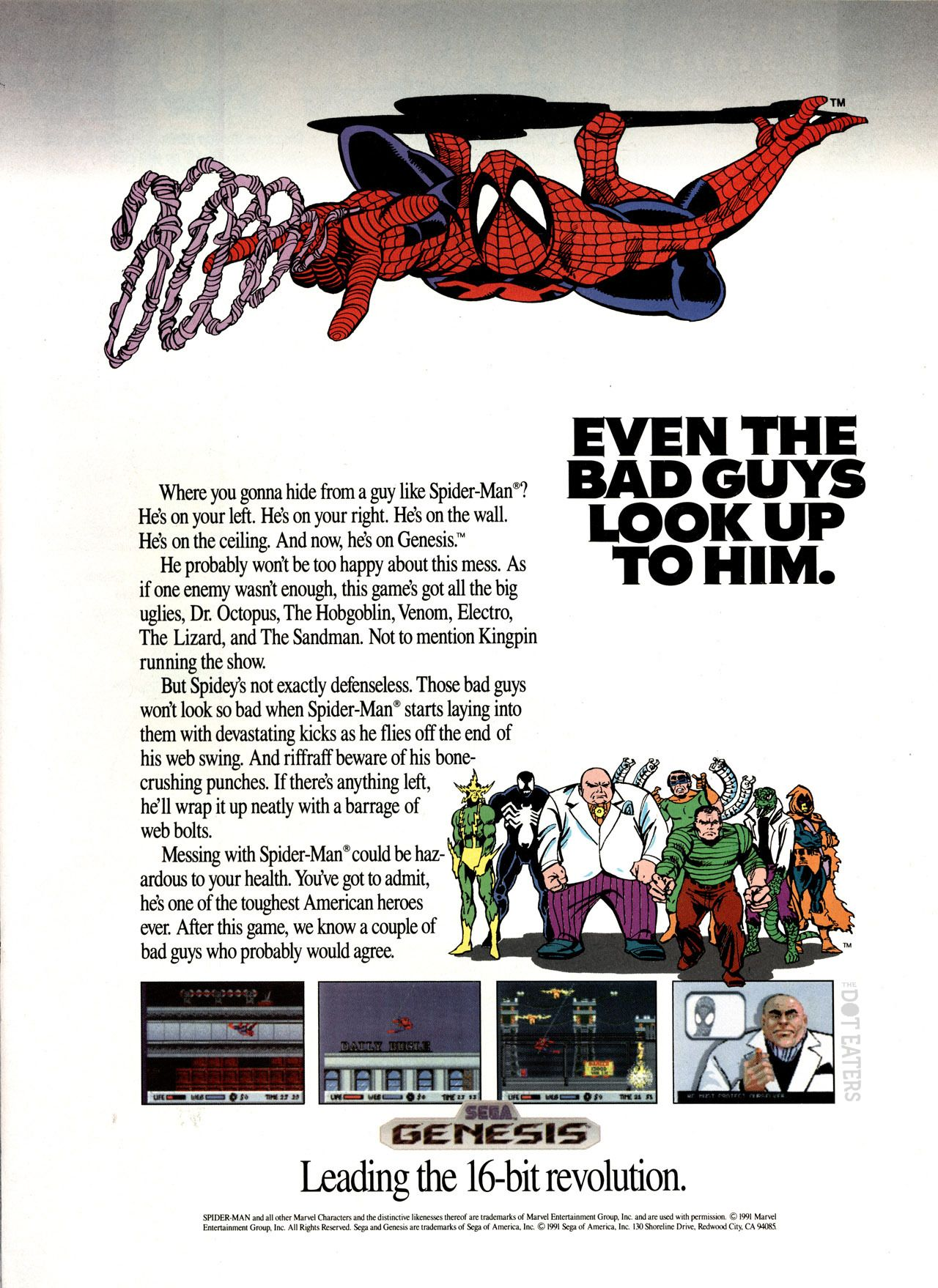 Look out, here comes the #Spider-Man on #Sega #Genesis (1991). #Marvel #bitstory