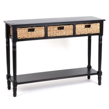 Black Storage Basket Console Table ON SALE! Bought today ) yay!  sc 1 st  Pinterest & Black Storage Basket Console Table | Pinterest | Storage baskets ...