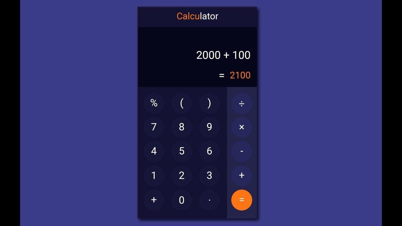 Pin Em Calculator App Ui Design