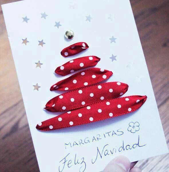 tarjetas navideñas hechas a mano Navidad Pinterest Tarjeta