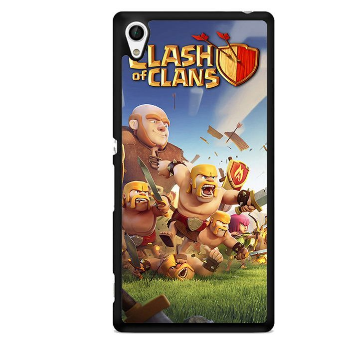 Clash Of Clan TATUM-2655 Sony Phonecase Cover For Xperia Z1, Xperia Z2, Xperia Z3, Xperia Z4, Xperia Z5