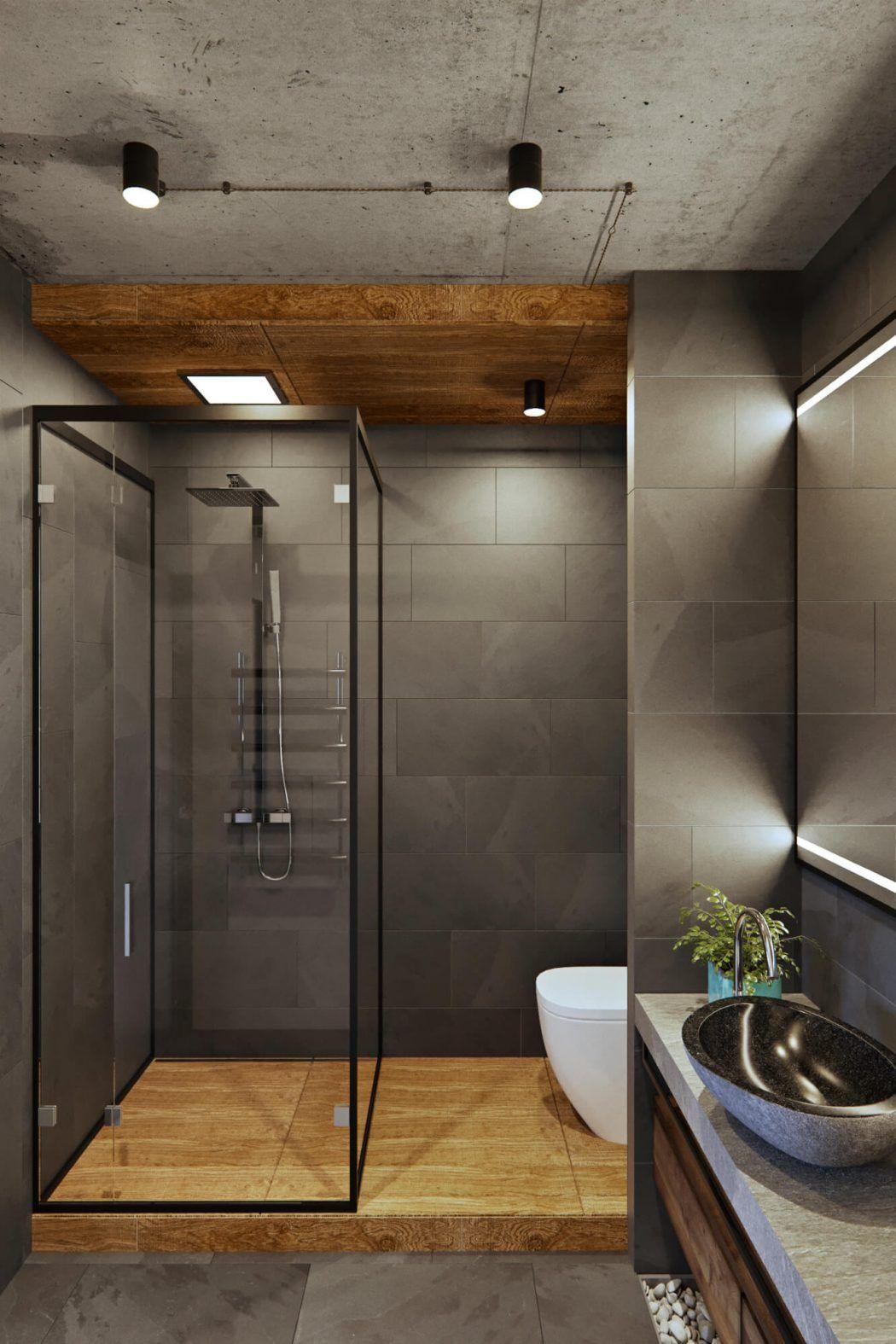 Rustic Apartment Bathroom
