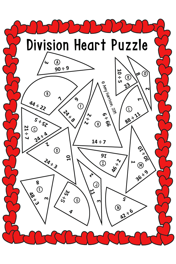 Division Valentine S Day Puzzle 3rd 4th 5th Grade Math Fun Math Activities Math Interactive Notebook Fun Math [ 1102 x 735 Pixel ]