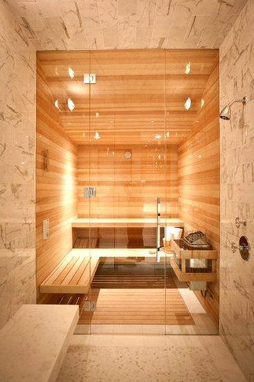 Светлый интерьер бани | Проекты. Баня и сауна | Pinterest | Saunas, Steam  Room And Spa