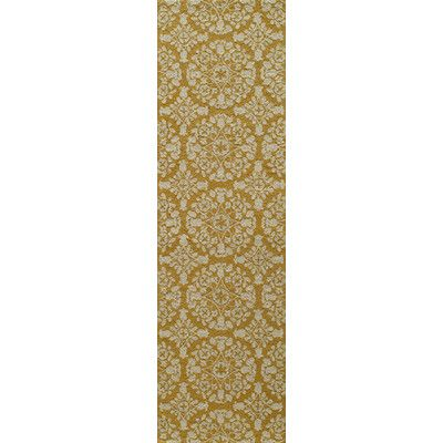 """Bungalow Rose Roeser Gold Area Rug Rug Size: Runner 2'3"""" x 8'"""