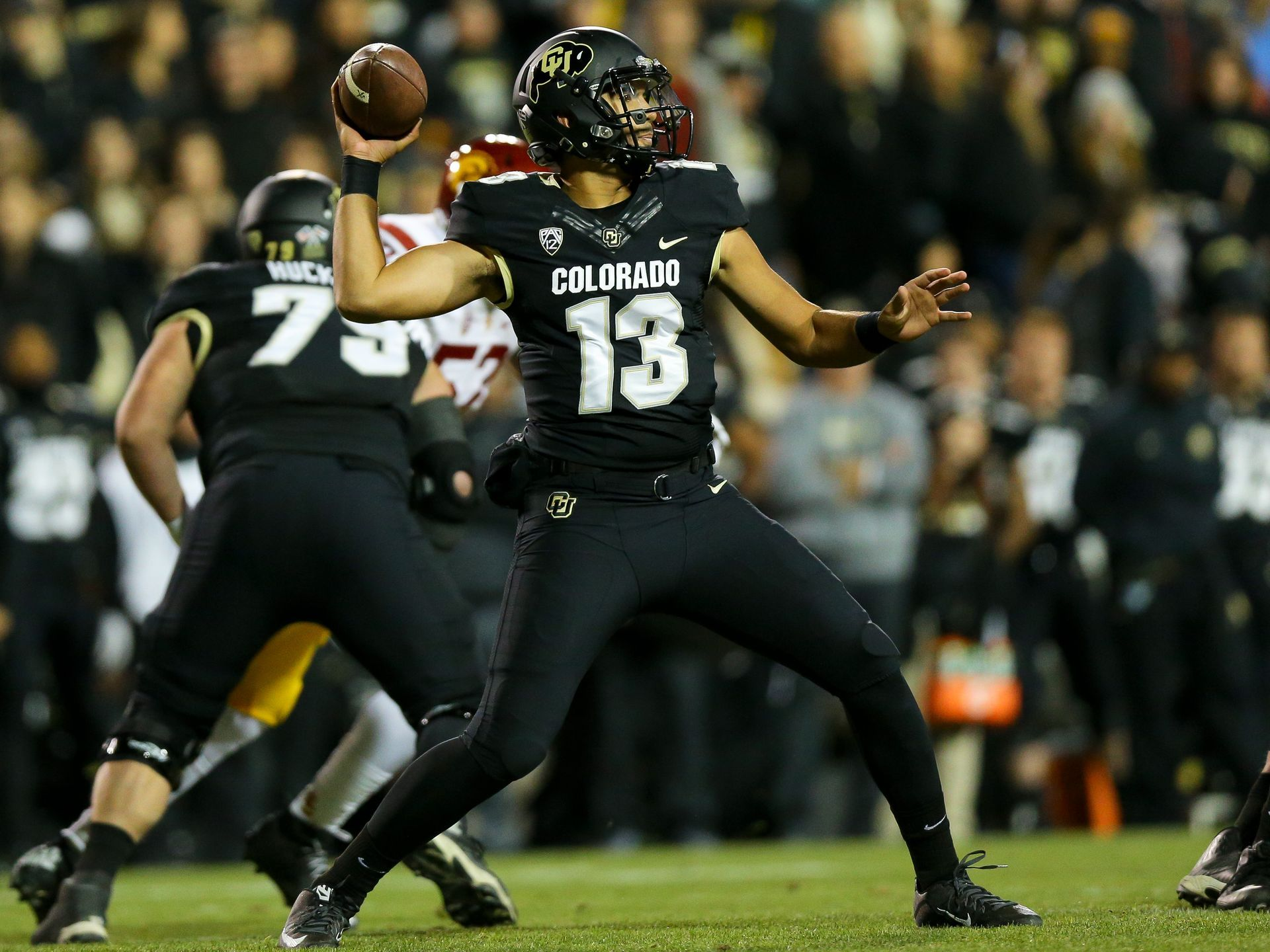 Quarterback Sefo Liufau 13 Of The Colorado Buffaloes Football