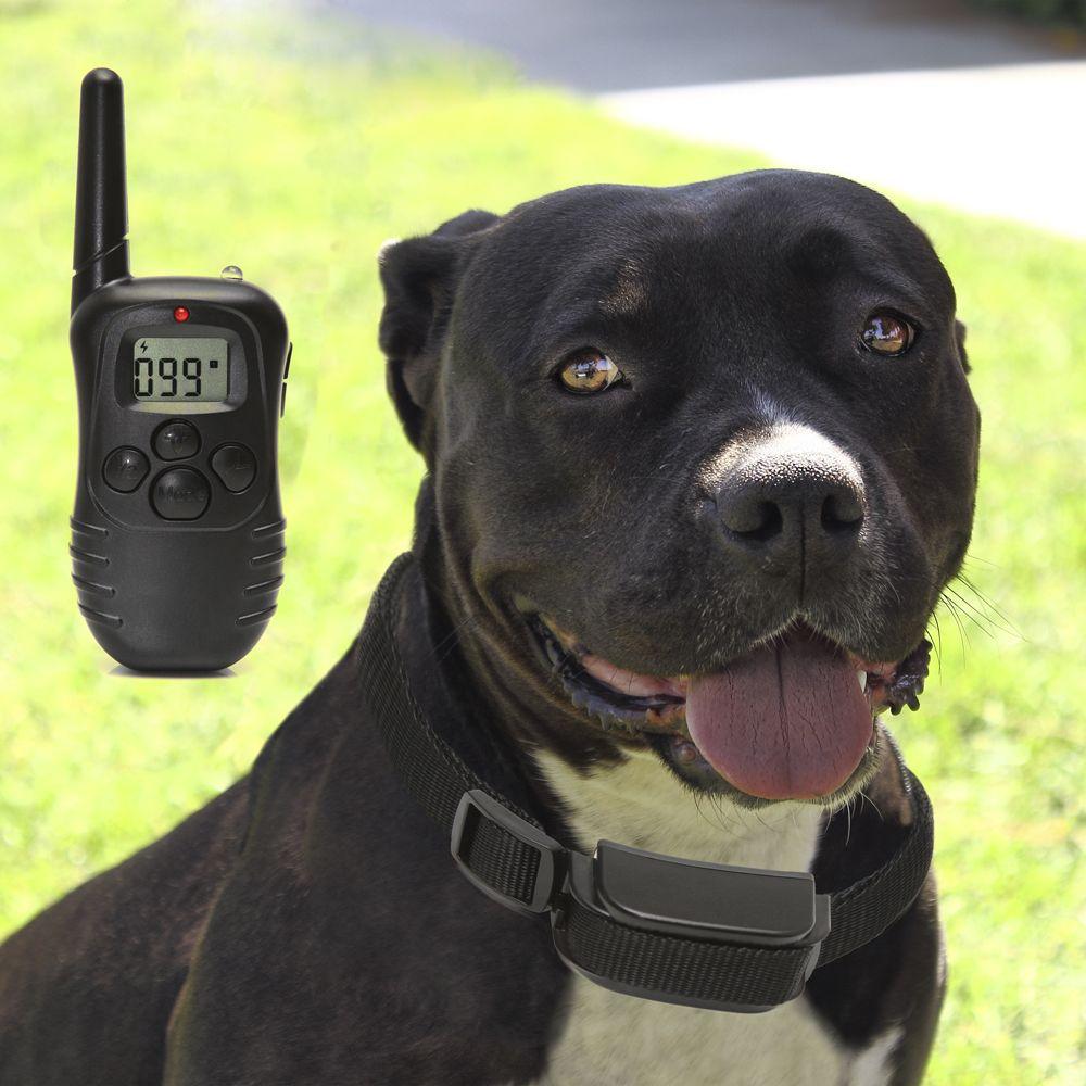 Remote Dog Training Collar 330 Yard Radius Lcd 100lv Shock Pet