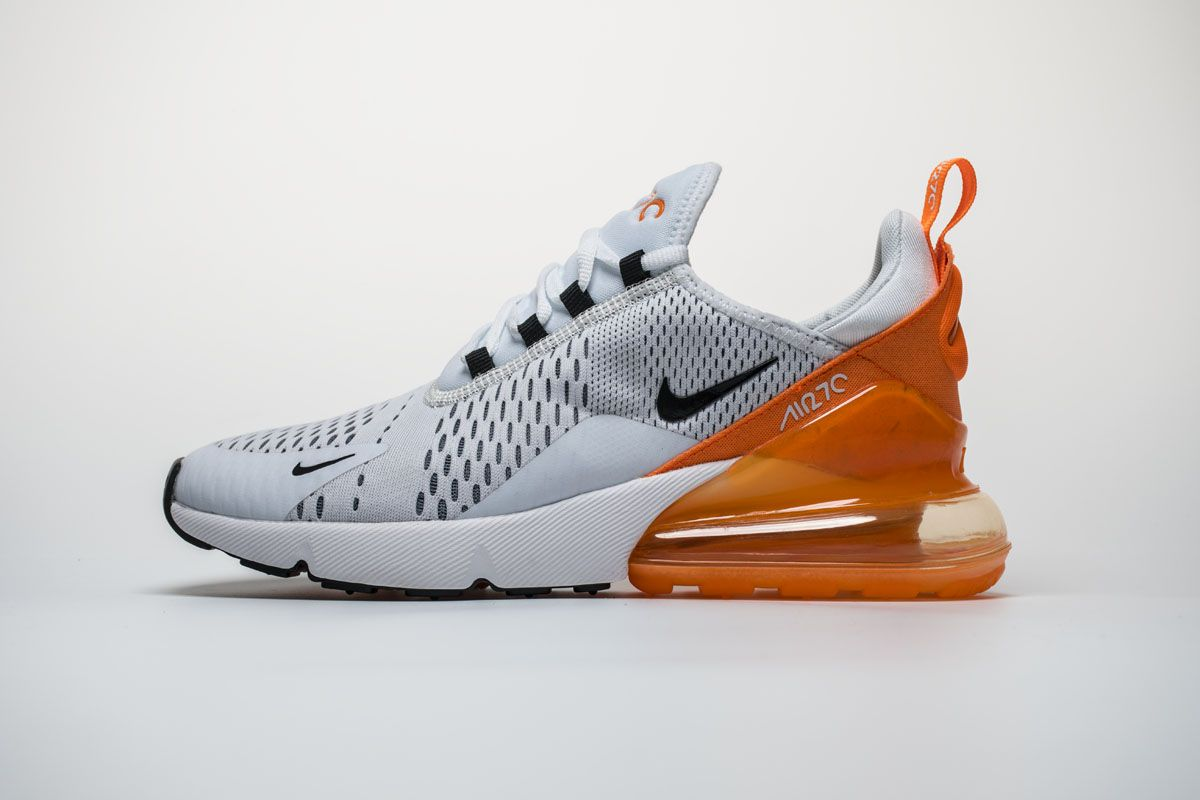 3bf55ffdd4f5 Nike Air Max 270 White Orange Black Shoes1