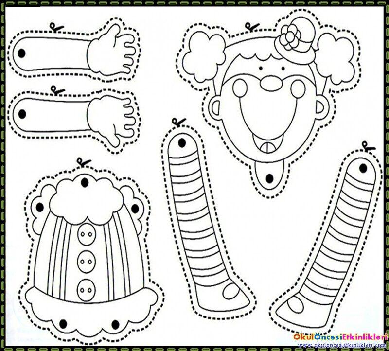 pinchristiana keller on หุ่นชัก  clown crafts