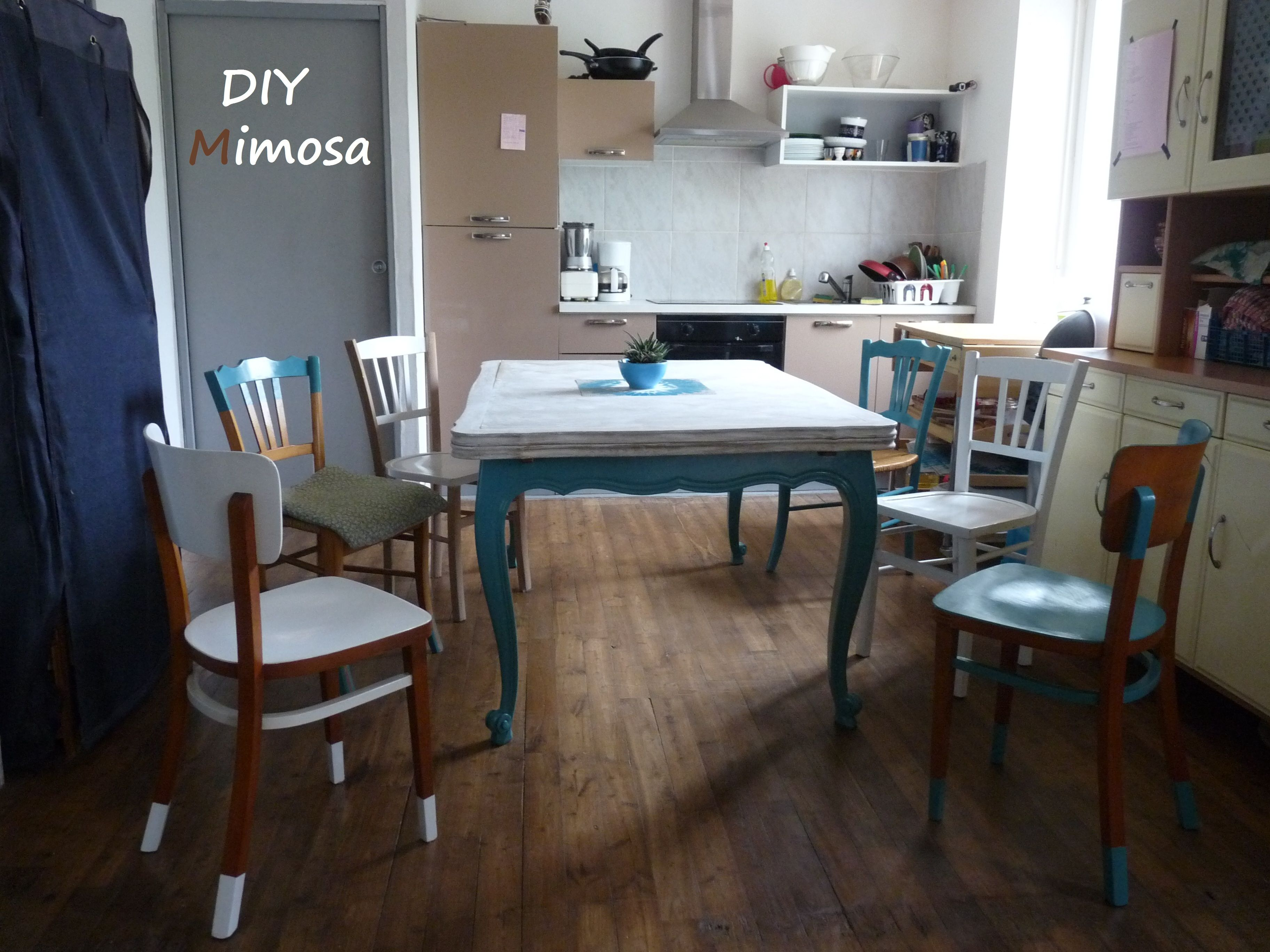 Salle A Manger Relookee Table Merisier Relookee Chaises Relookees Relooking Meuble Diy Home Decor Home Furniture
