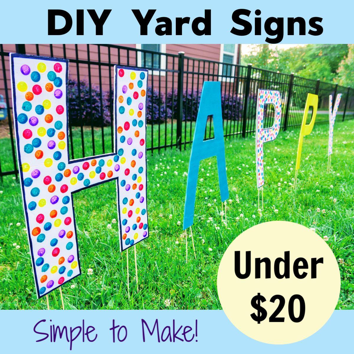 Diy Yard Decorations For Birthday