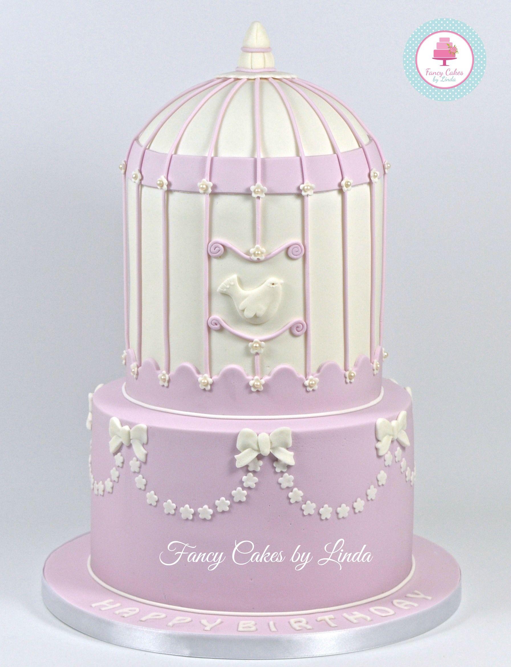 Lila Birdcage Anniversary Cake 07917815712 www