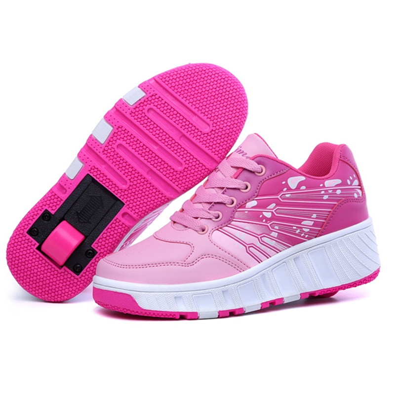 42.86$  Watch here - http://alilcr.worldwells.pw/go.php?t=32720234269 - Top quality Heelys Fashion Children Roller Shoes Casual Sport Roller Girls And Boys Skate Kids Sneakers With Wheel T15-22
