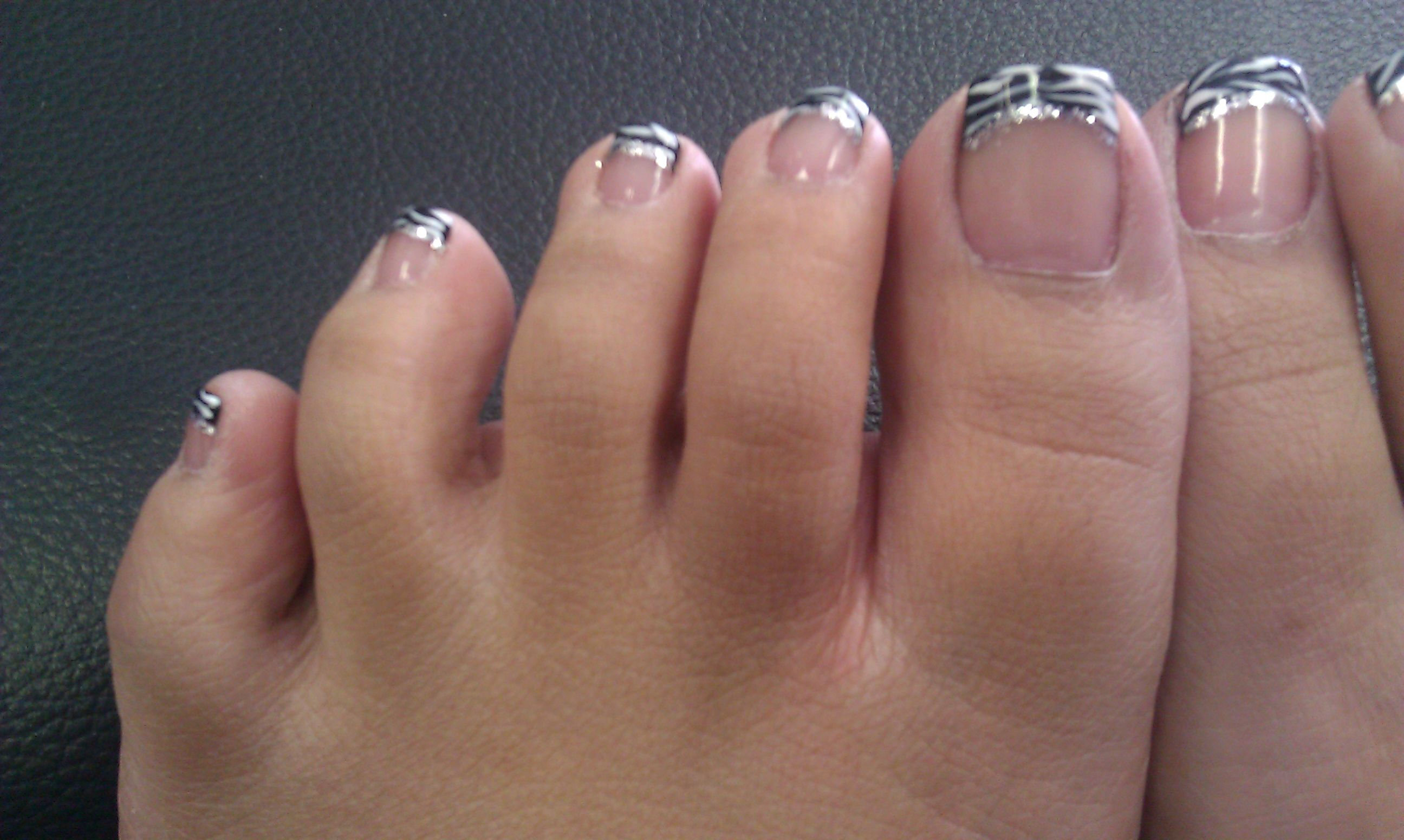 Nails toe French with diamonds pictures best photo