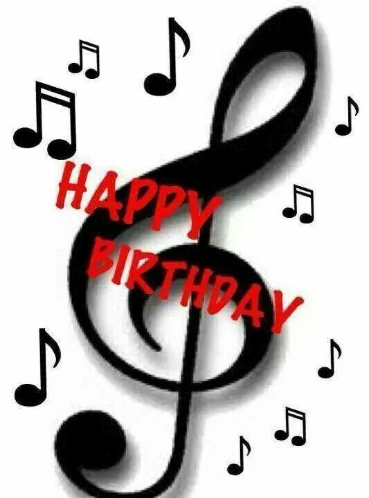 Muzieknoot Birthday Happy Birthday Birthday En Happy Birthday