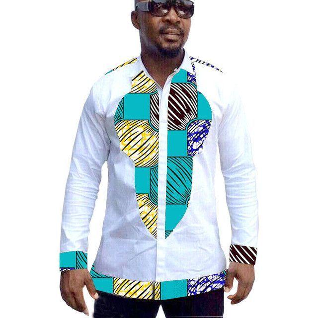 7e607752aa2 African print mens dashiki shirts custom african clothes fashion shirt men  long sleeve shirt of africa clothing