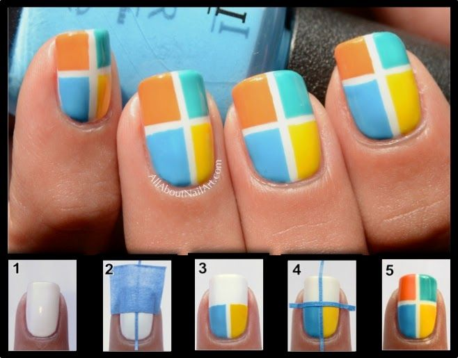 Zig Zac Mania Diy 10 Easy Nail Art With Scotch Tape Beauty