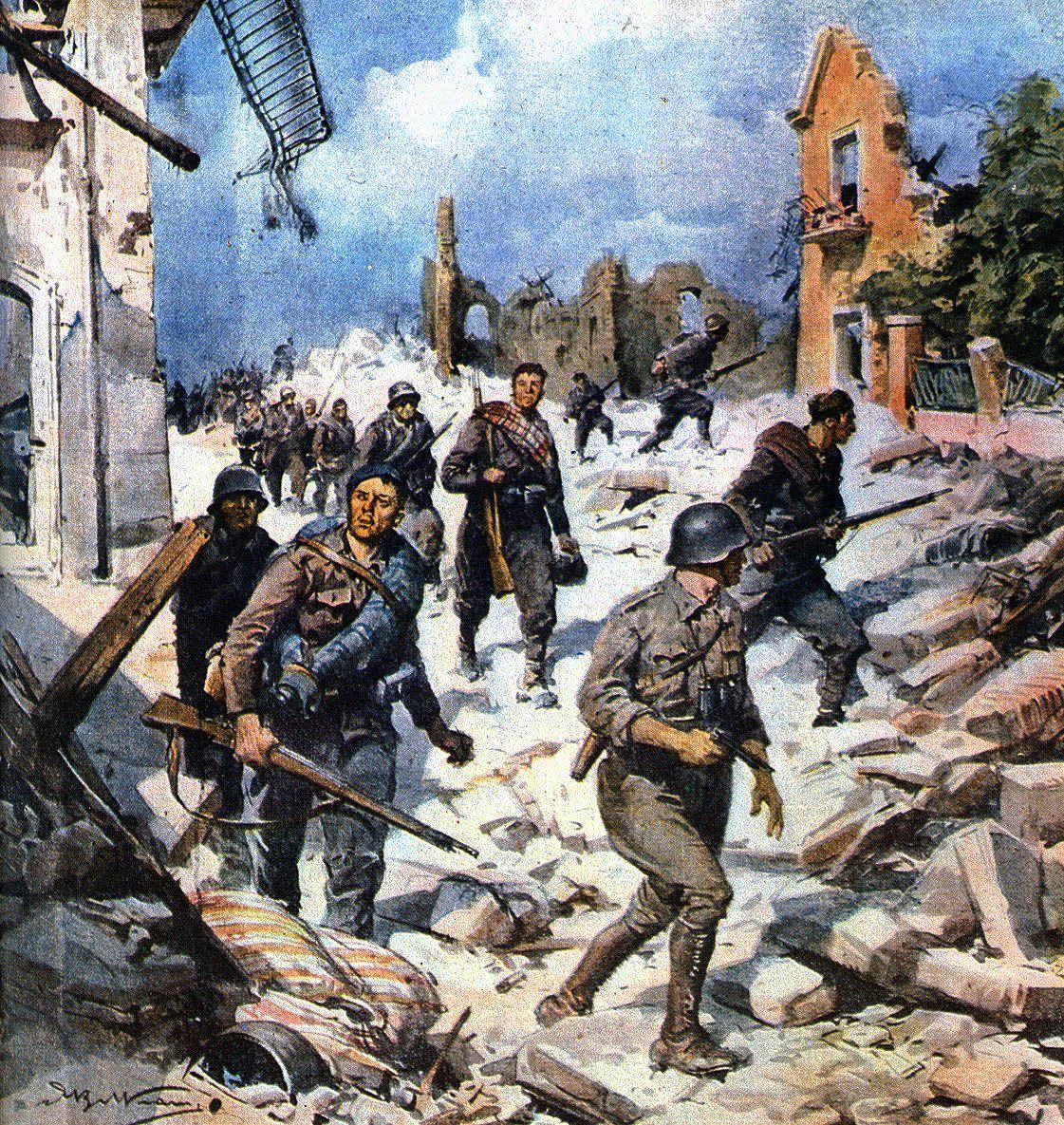 Combattendo a Teruel - Achille Beltrame