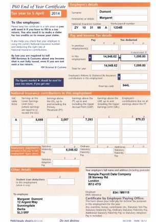 Get P60 Payslips Online At Best Price In Uk You Can Also Ordered Replacement P60 Payslips National Insurance Number Security Company