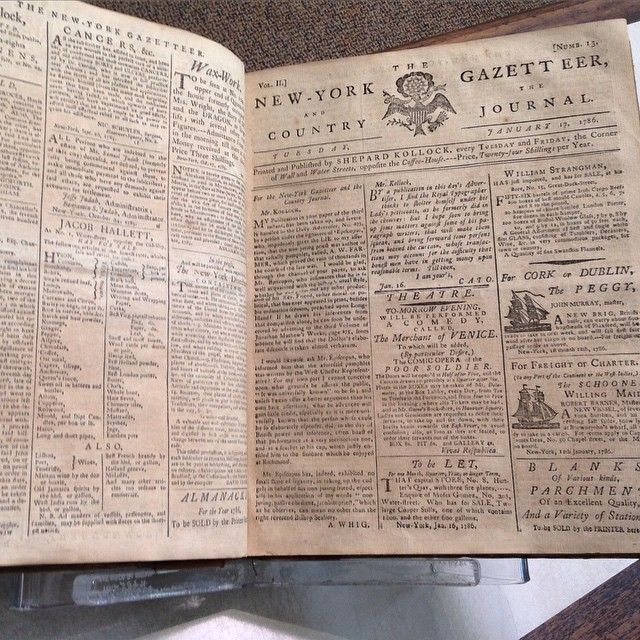 New York Gazeteer 1789, via americanantiquarian