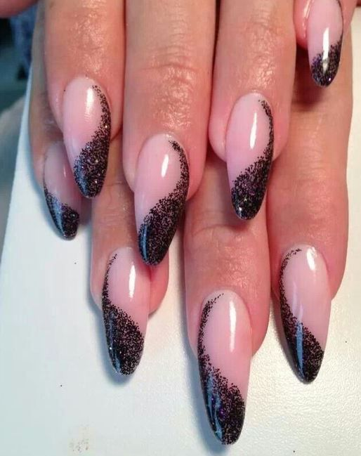 Round Up Of The 50 Prettiest Almond Nails On Pinterest ...