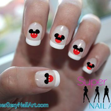 Mickey Mouse Minnie Mouse Red Ears Disney Nail Art Water Transfer